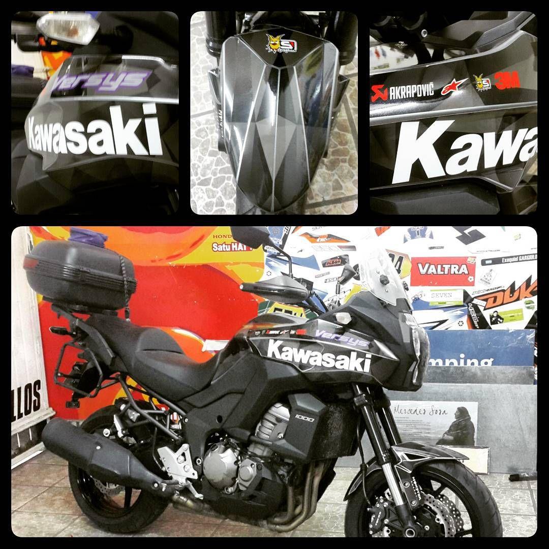 Diseño Impresion Ploteo Calcos Stickers Motos Kawasaki - Stickers for motorcycles kawasaki
