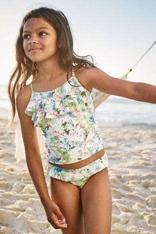 Buy Multi Ruffle Top Tankini 3 16yrs Online Today At Next Israel