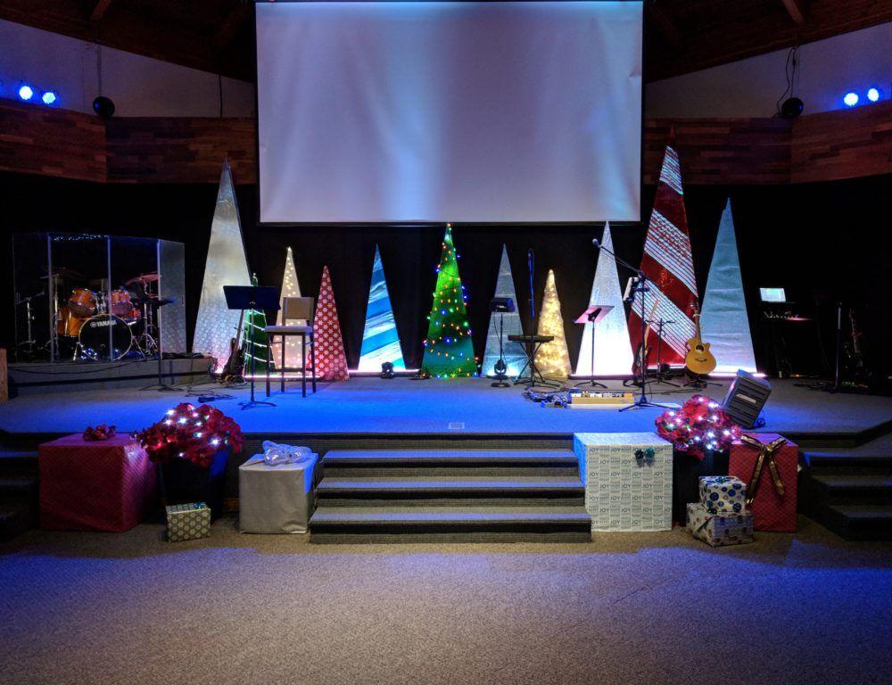 Trim the Trees Church Stage Design Ideas Church ideas