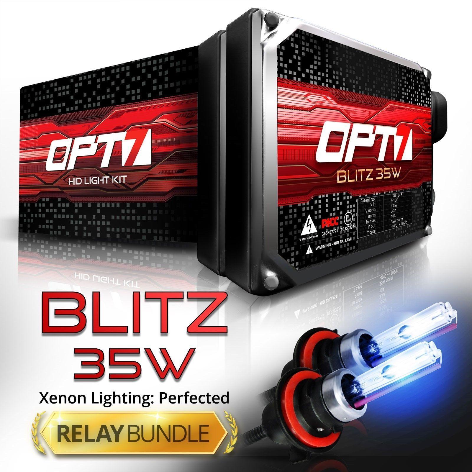 Opt7 35W 9007 Bi Xenon Hid Kit W Relay Harness Bundle All Light Colors