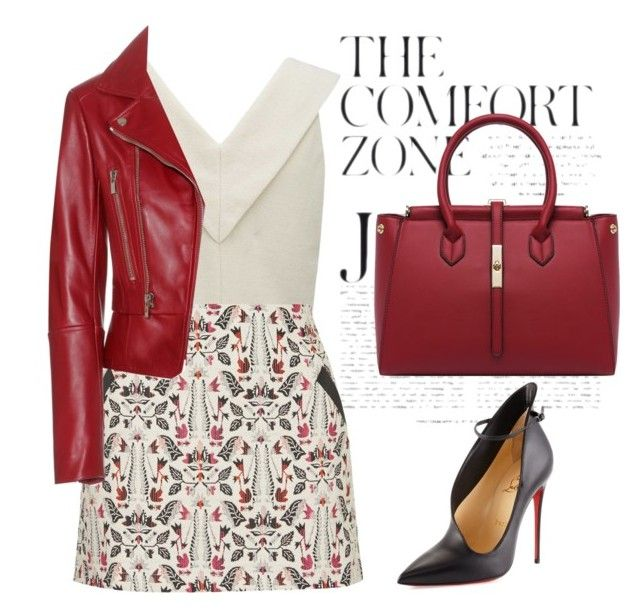 """""""Untitled #181"""" by jovana-p-com ❤ liked on Polyvore featuring Topshop, Christian Louboutin and Balenciaga"""