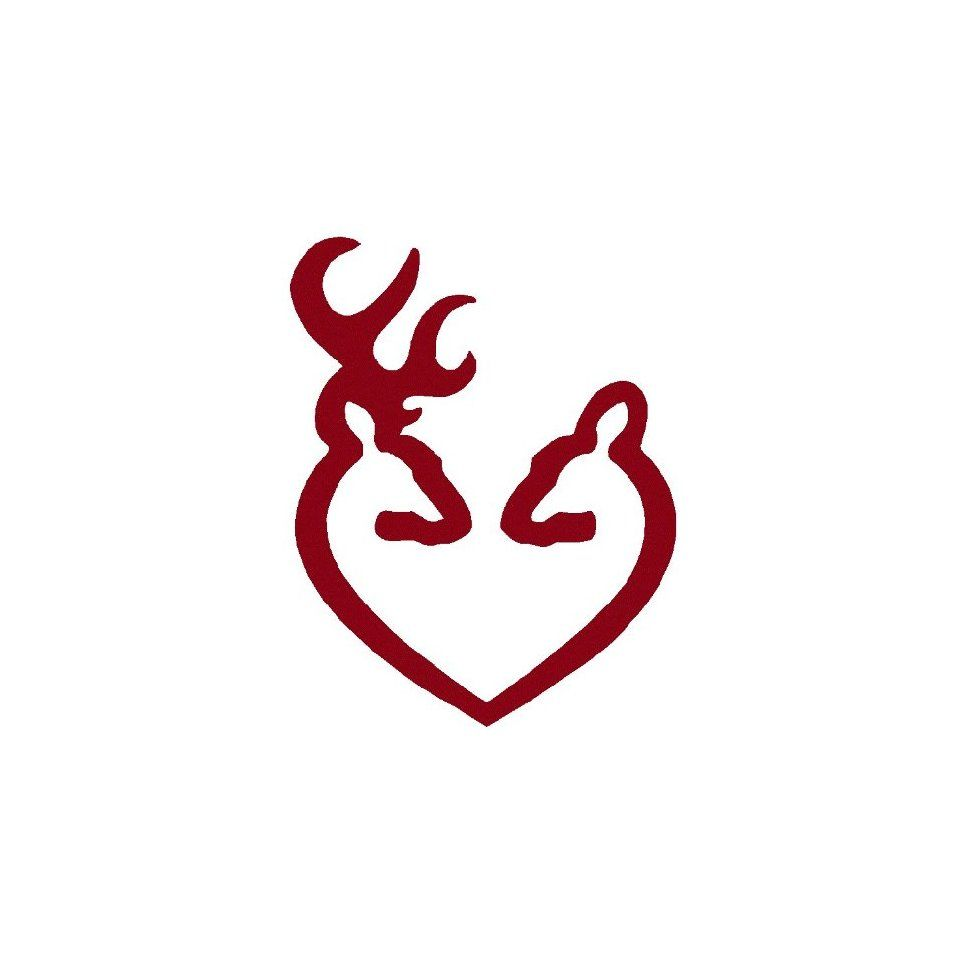 firearm gun logo deer heart browning gun logo car truck notebook rh pinterest com Browning Symbol Tattoo Designs heart shaped browning symbol