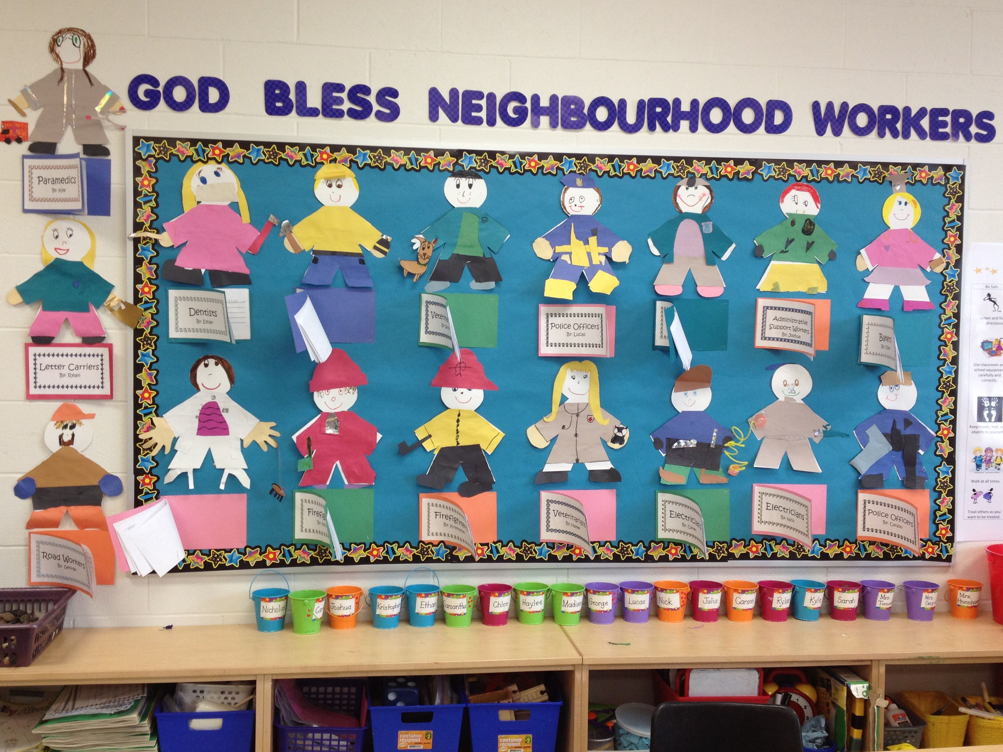 cute community helpers bulletin board by the wonderful miss sarah
