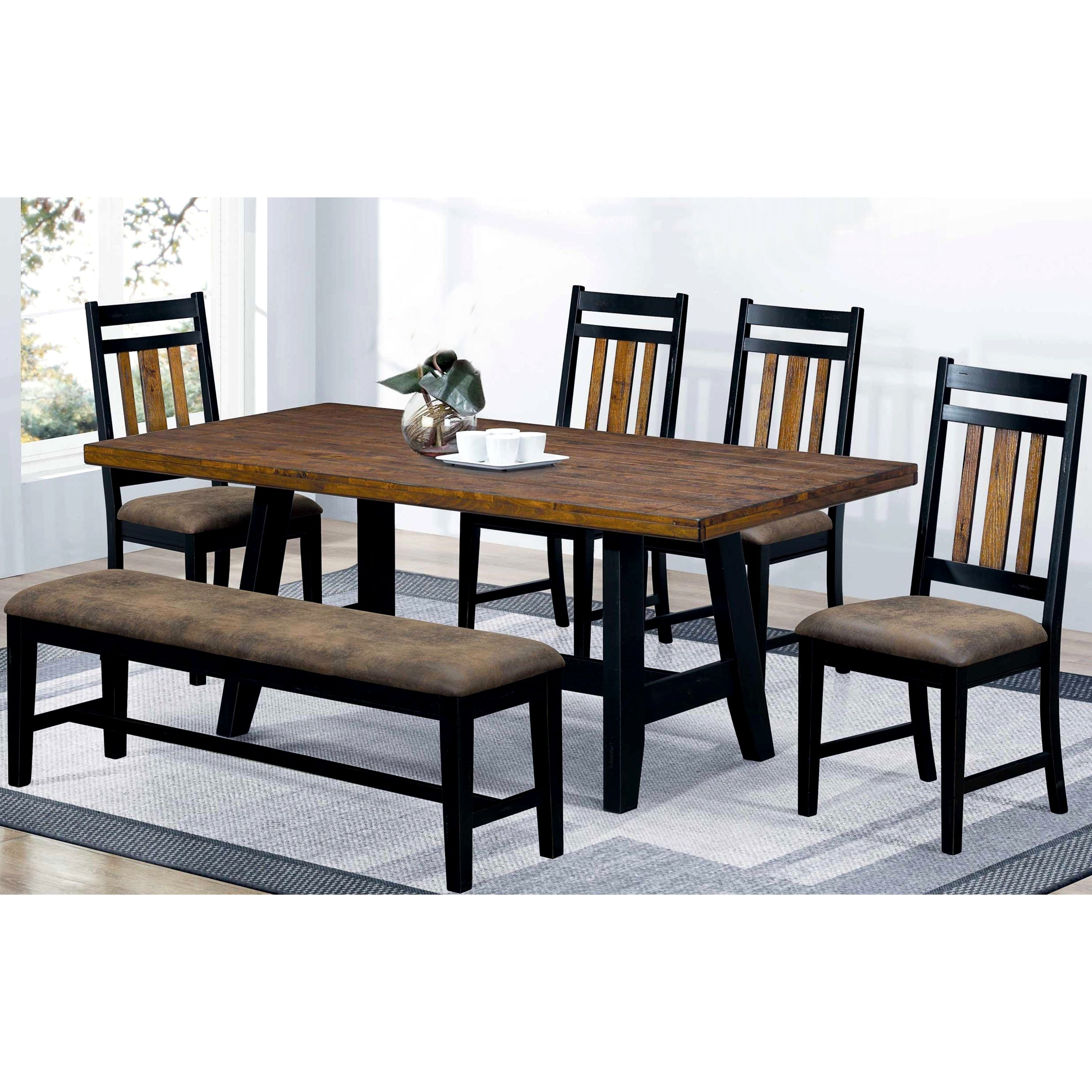 Superb Monica Country Style Plank Design Two Tone Dining Set Creativecarmelina Interior Chair Design Creativecarmelinacom