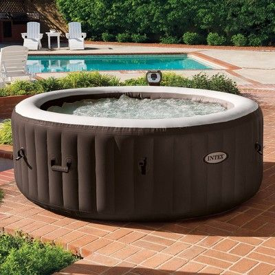 Intex Purespa Inflatable 4 Person Spa Hot Tub And Battery Led