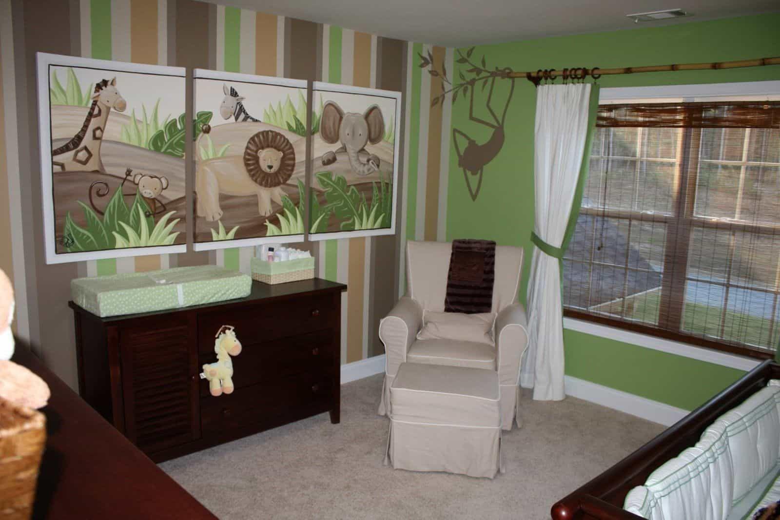 Erstellen Sie Eine Dschungel Themen Baby Kinderzimmer Für