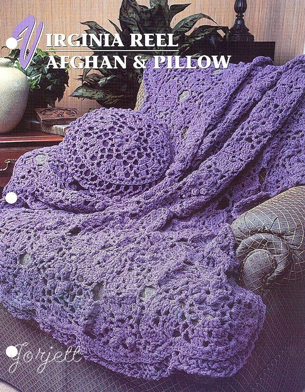 Virginia Reel Afghan Pillow Annies Crochet Patterns Join As You Go