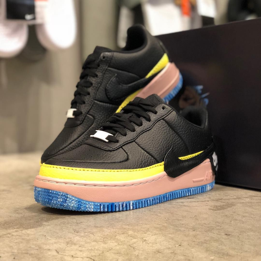 quality design 0bc63 66d4a ... sale nike wmns air force1 jester xx se black sonic yellow at2497 001  2901b ffedc