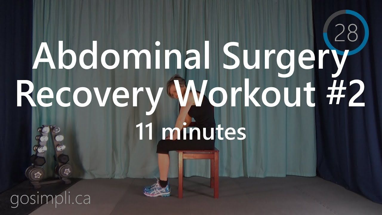 Post Abdominal Surgery Workout Series 2 | Hernia | Surgery ...