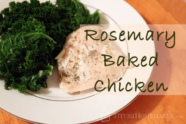 Rosemary Baked Chicken - This easy chicken #recipe is great for those nights you forgot to thaw something for dinner. #t2hmkr