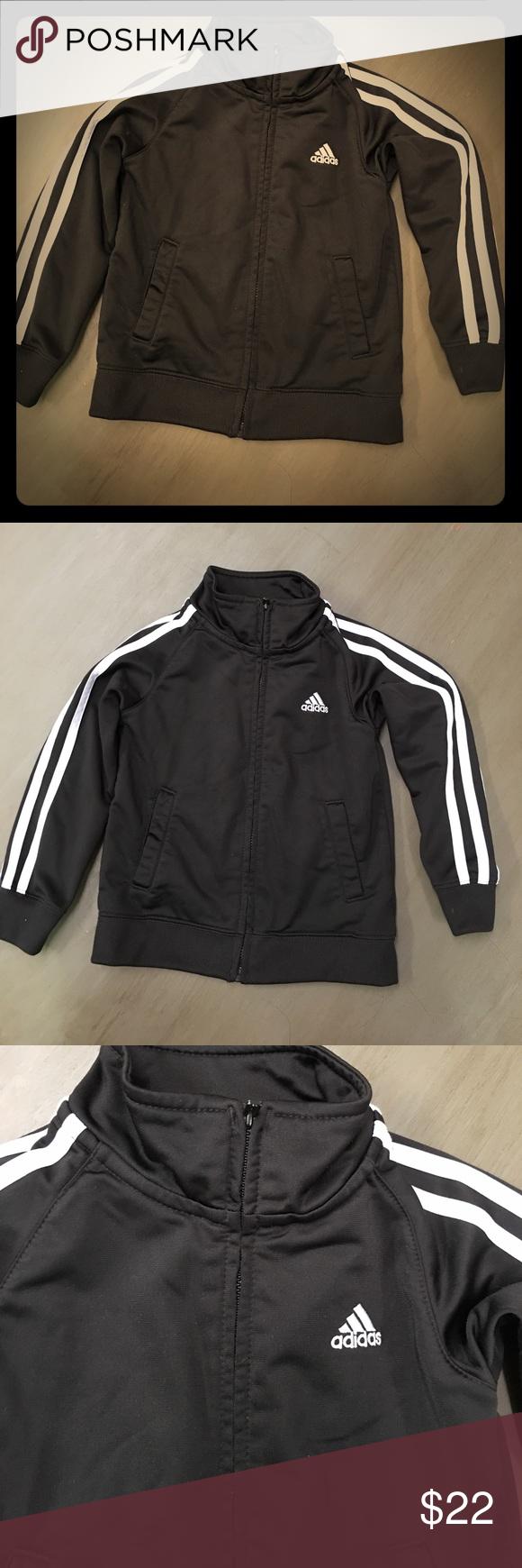 Adidas black and white 3t zip up jacket Adidas black and white 3t zip up jacket Jackets & Coats