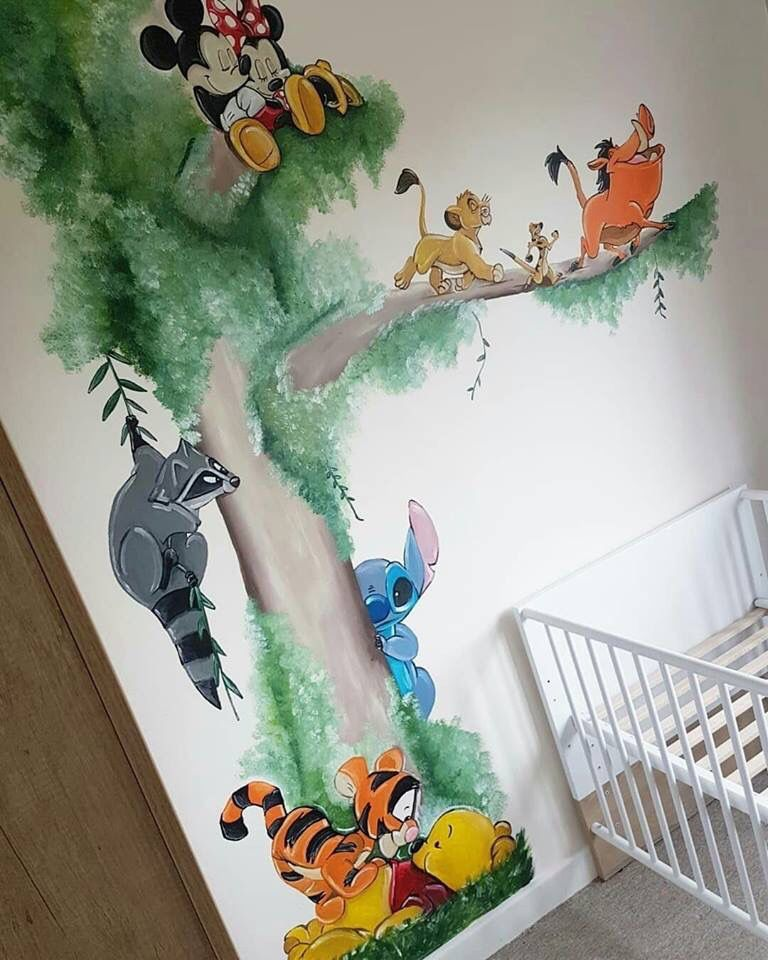 Maybe With Something Other Than Disney Characters Wall Painting