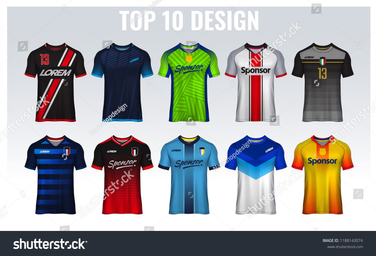 Download T Shirt Sport Design Template Soccer Jersey Mockup For Football Club Uniform Front And Back View Template Soccer Sports Design Soccer Jersey Sports Uniforms