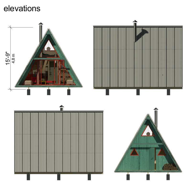 A Frame Tiny House Plans Alexis A Frame House A Frame House