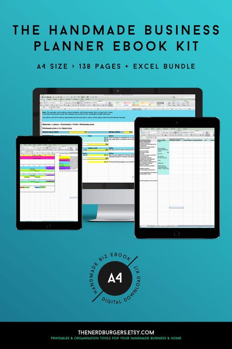 Handmade business planner, small business, marketing kit