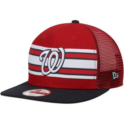 Washington Nationals New Era Throwback Stripe Original Fit 9FITFY  Structured Hat - Red e1deaed9d24