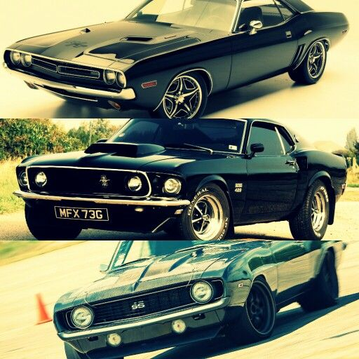 The American Muscle Trio Charger Mustang And Camaro Hot
