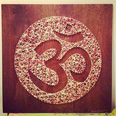 Yoga wall string art for yoga room ohm om | gift ideas