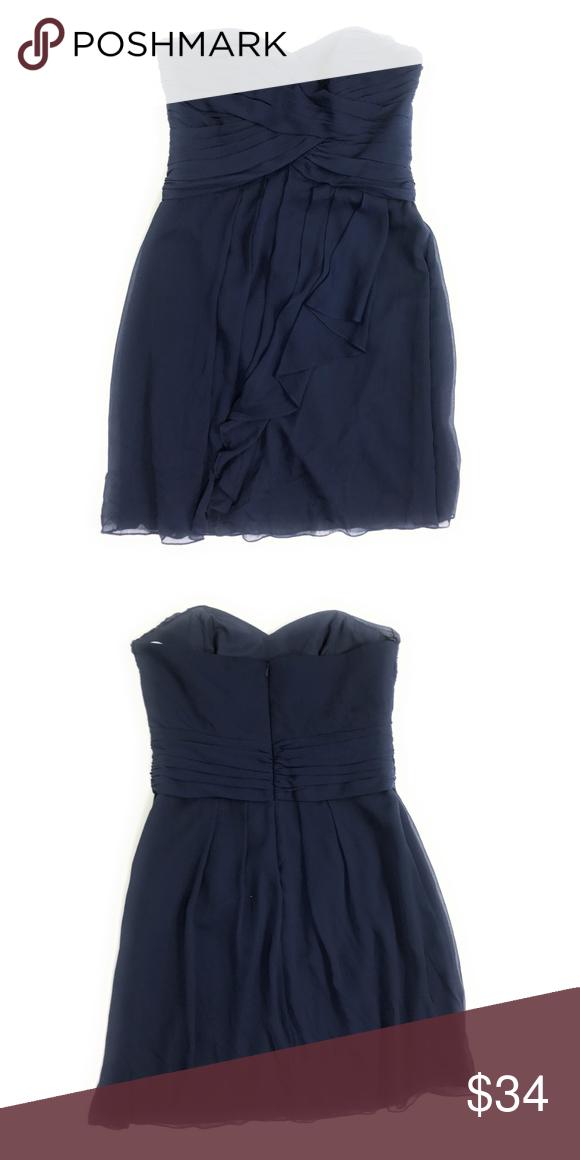 78a5eaf364c4 David's Bridal F14847 Strapless Dress Marine Blue Item 13635 - Dress style  F14847 - Short Crinkle