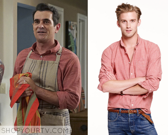 Modern Family Season 7 Episode 1 Phil S Pink Red Shirt Shop Your Tv