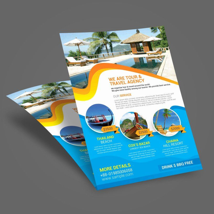 Lovely Cruise Flyer Template Free in 2020 Travel