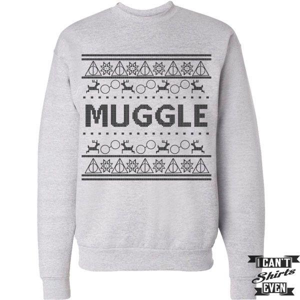 Harry Potter Inspired Unisex Sweatshirt. Muggle. Merry Christmas ...