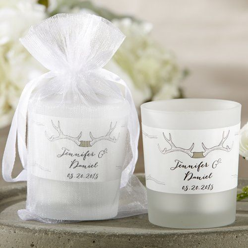 Personalized Frosted Glass Votive Wedding Candle Favors Unique Bridal Shower Favors Candle Wedding Favors Rustic Bridal Shower Favors