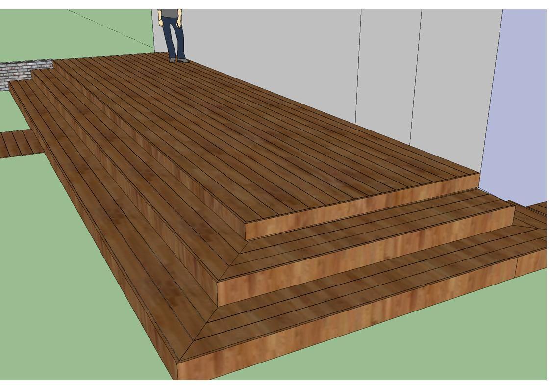 terrasse en bois avec plusieurs niveaux ext rieur terrasse pinterest gardens. Black Bedroom Furniture Sets. Home Design Ideas