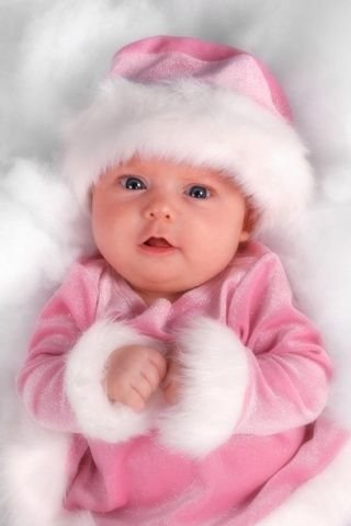 Download Free Cute Baby In Pink Iphone Wallpaper Mobile Wallpaper