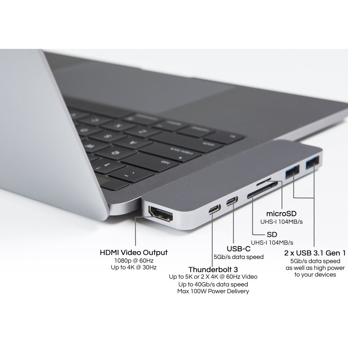 Hyperdrive Duo 7 In 2 Hub For Usb C Macbook Pro 13 15 2016 2017 2018 And Macbook Air 2018 Macbook Pro Macbook Accessories Macbook Pro Accessories