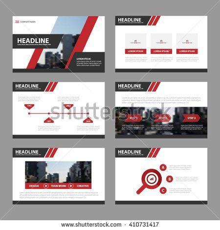 Red Black Presentation Templates Infographic Elements Flat Design Set For Brochure Flyer Leaflet Marketing Advertising Stock Vector Illustration 410731417