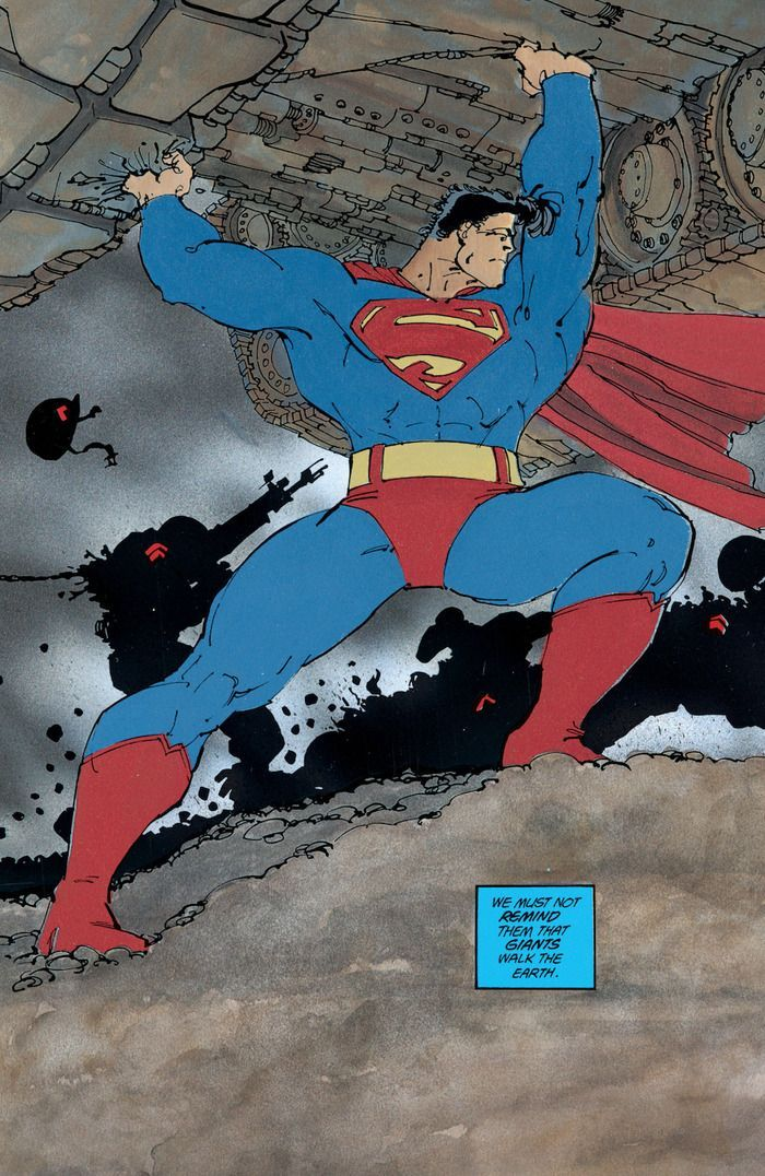 The Dark Knight Returns Superman Frank Miller Dark Knight