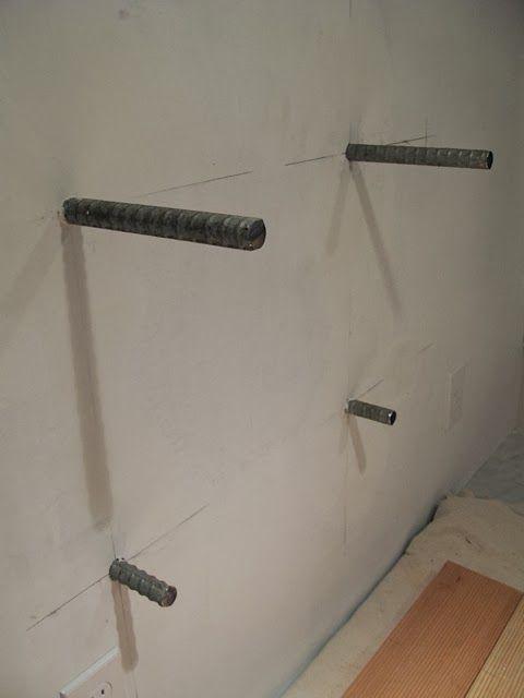 Floating Shelves 3 4 Quot Rebar An Urban Cottage Tile Grout