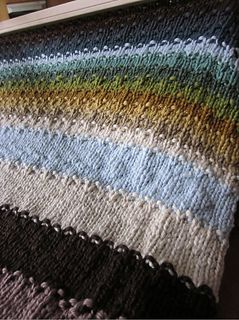 Loom knitting blanket free pattern on Ravelry (must have acct to view)