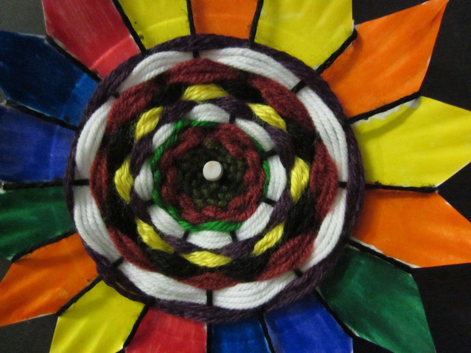 Weaving Paper Plates Flowers Art Lesson Ideas Art Weaving Art