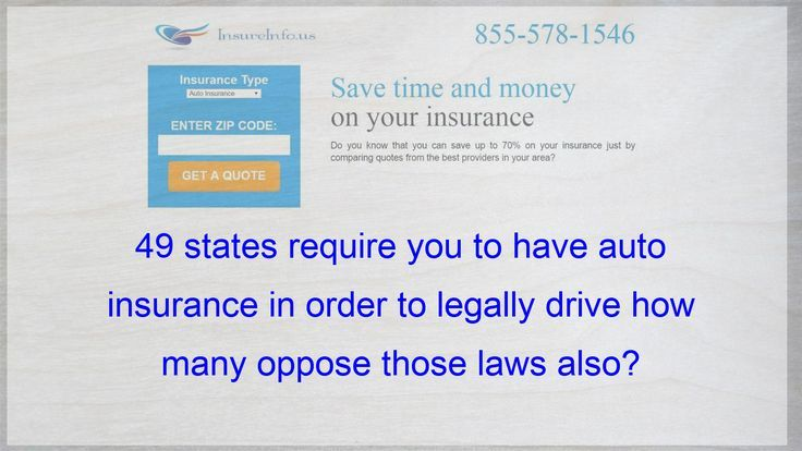 In 49 States Car Insurance Is Required To Legally Determine The