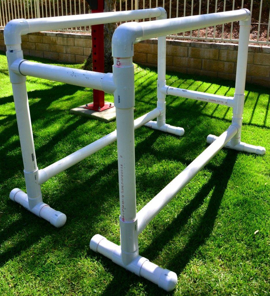 full-size pvc parallel bars | outdoor gym | pinterest | bar