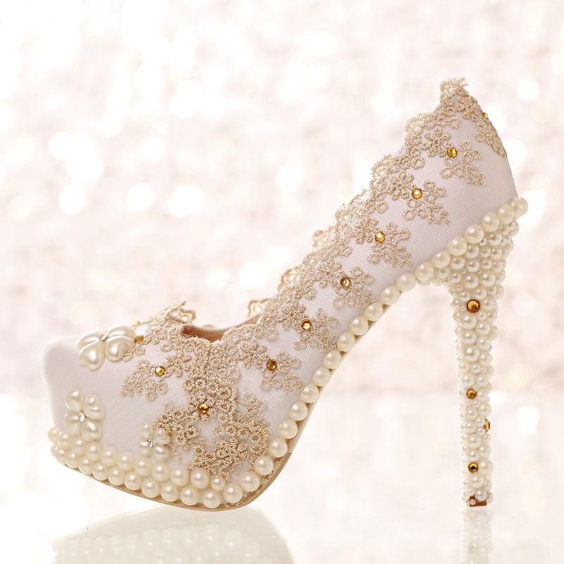 Champagne Color Rhinestone Lace Bridal Shoes Ultra High Heels Thin Heels  Shoes Shallow Mouth Wedding Shoes Single Shoes Womenu0027s * AliExpress  Affiliateu0027s ...