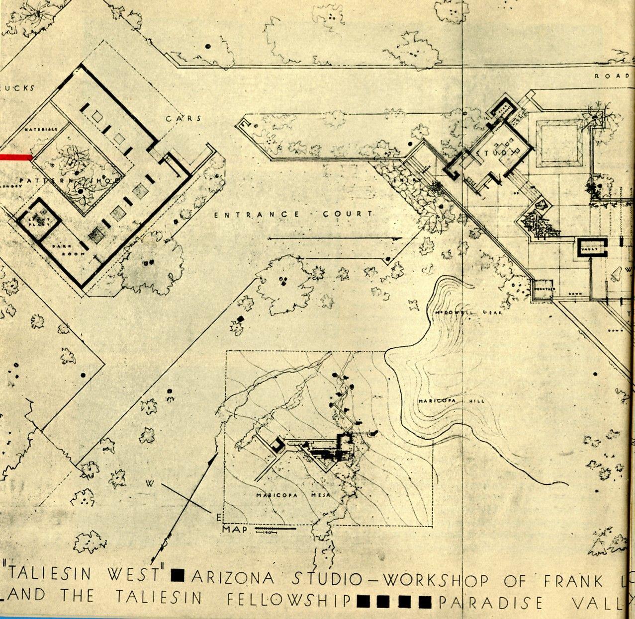 floor plan of taliesin google search fl wright