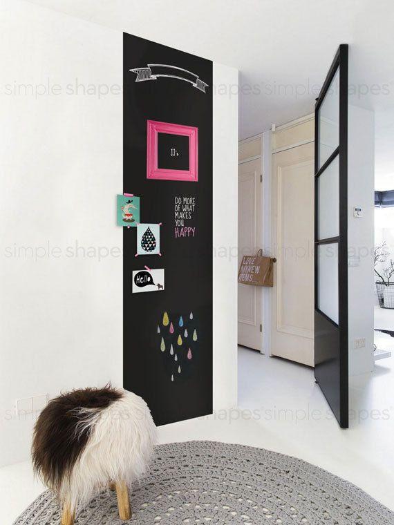 Chalkboard Wall Decal Large Chalkboard Sticker by WriteOnDecals & Chalkboard Wall Decal Large Chalkboard Sticker by WriteOnDecals ...