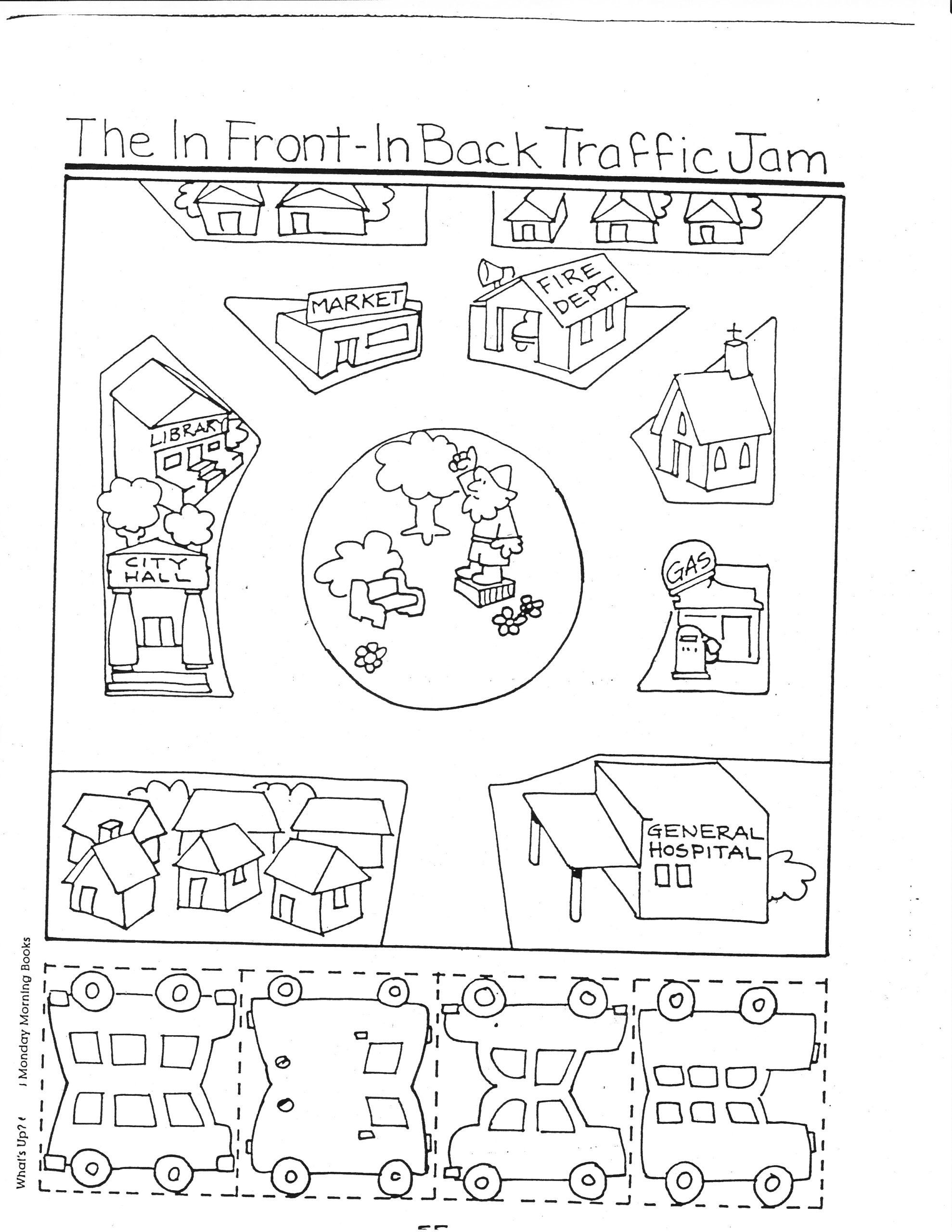 Map Worksheets For Kindergarten Transportation