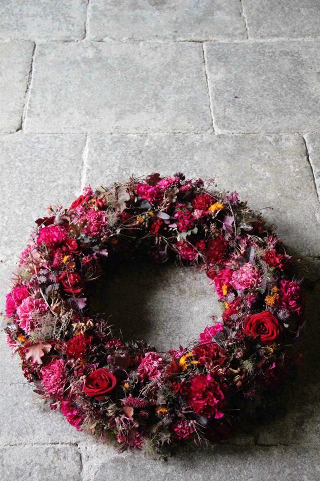 Wreath Akademie fr Naturgestaltung  Wreaths  Herbstdeko Beerdigung blumen Blumen