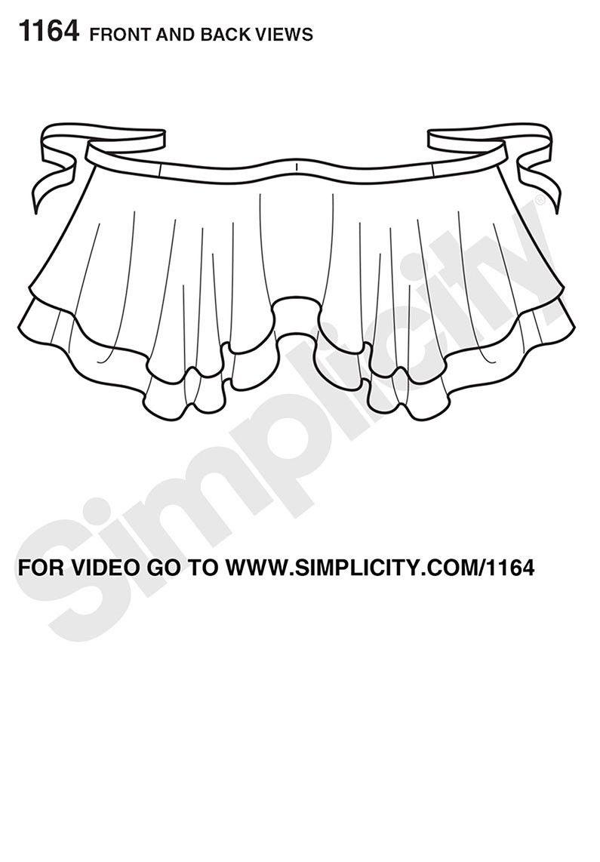 Simplicity Pattern S1164 Misses\' Double Layer Wrap Skirt | Pinterest ...