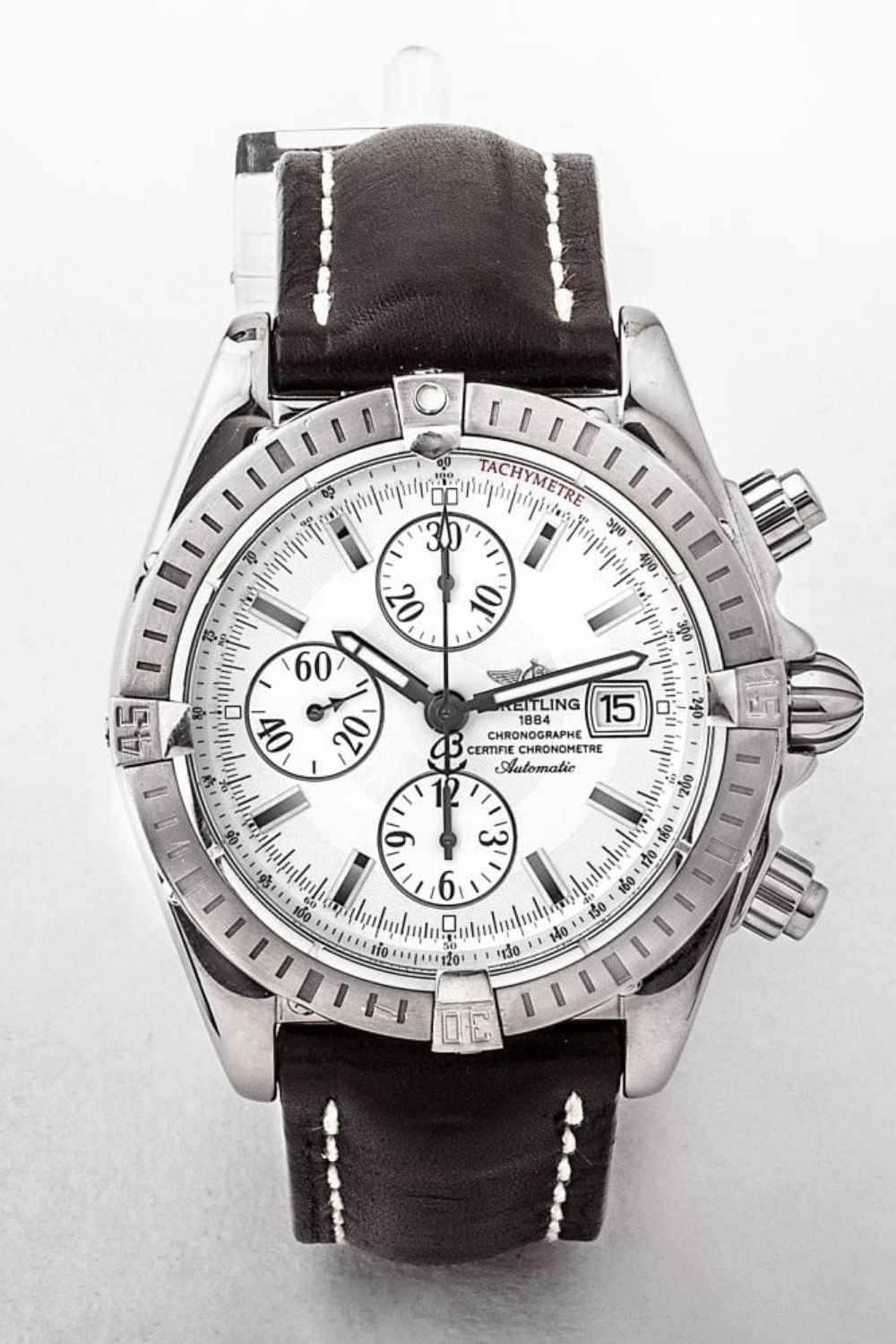 Breitling automatic chronomat silver dial gents watch