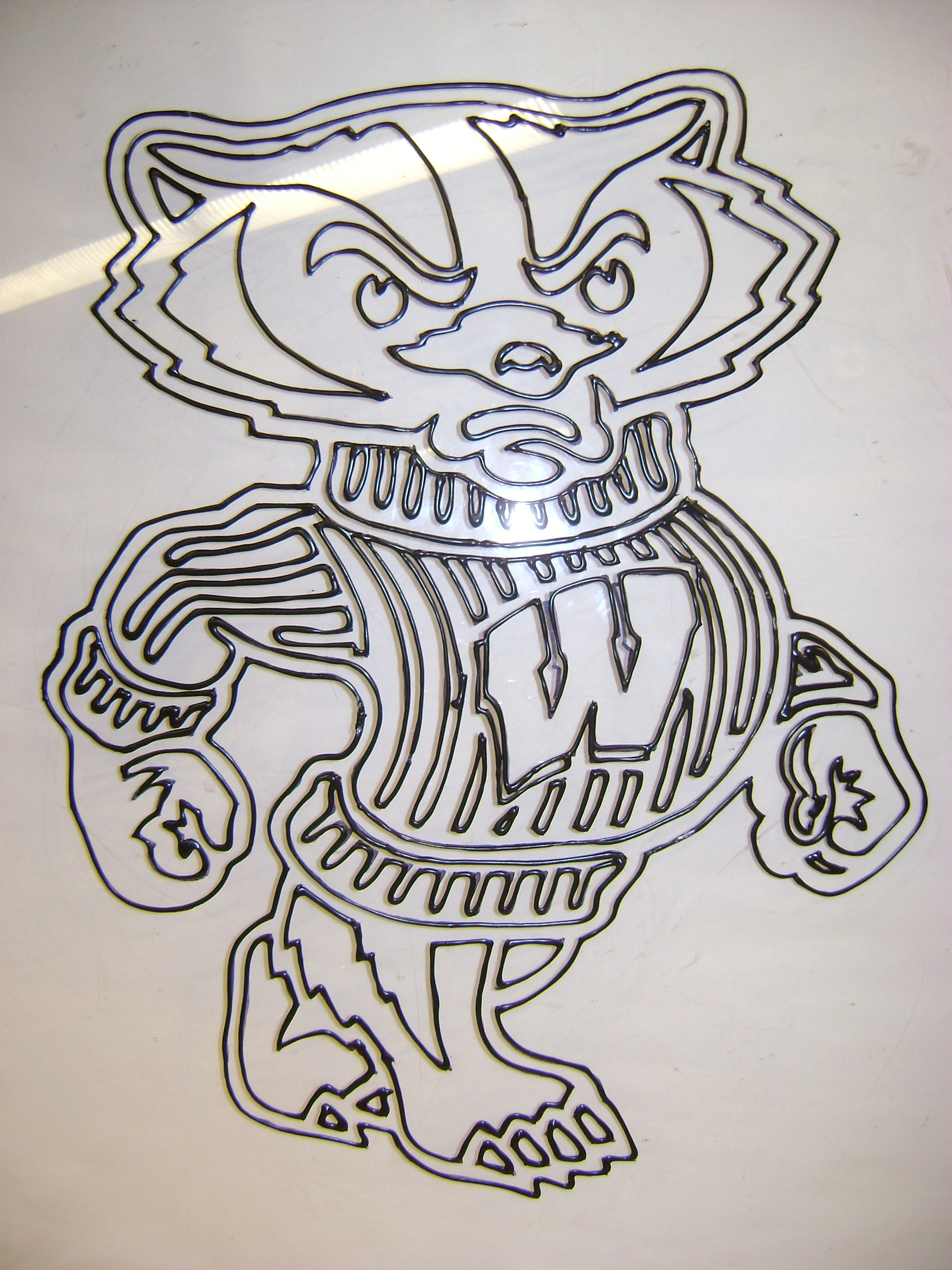 Bucky Badger Coloring Page - Yahoo Image Search Results | Cameo ...