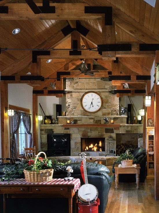Rustic traditional with timber frame construction