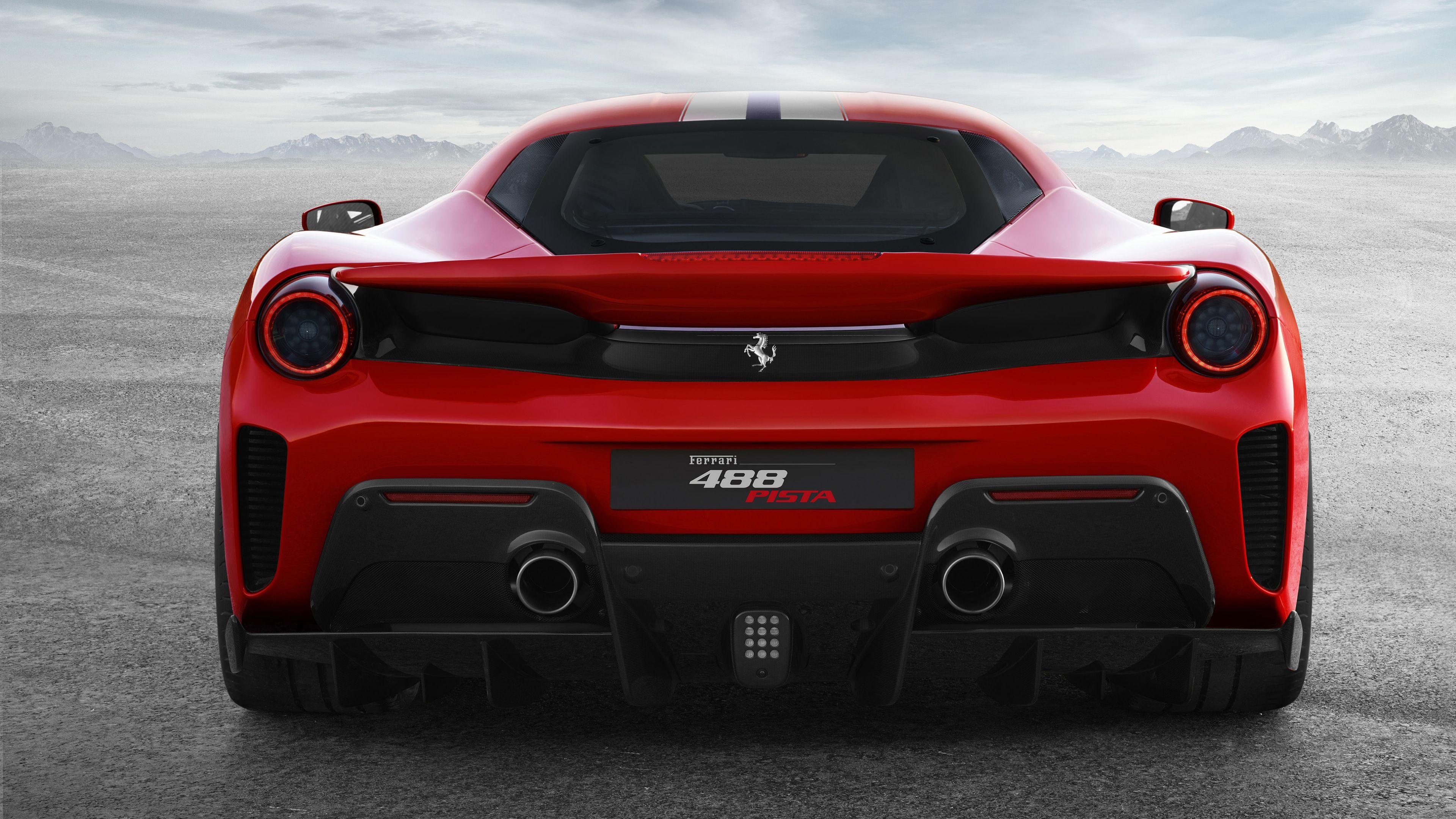 Wallpaper 4k Ferrari 488 Pista Rear View 4k 2018 Cars Wallpapers