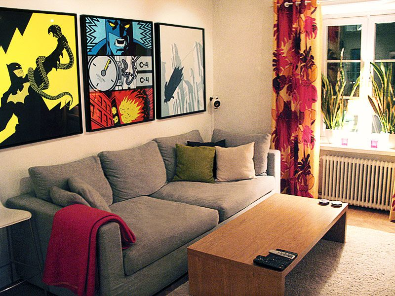 living rooms comic and.candy Säljes Tavlor (Batman