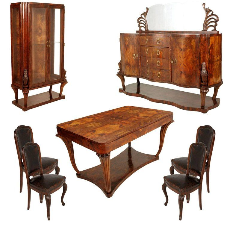 1920s testolini salviati venice baroque art deco dining room set rh pinterest com