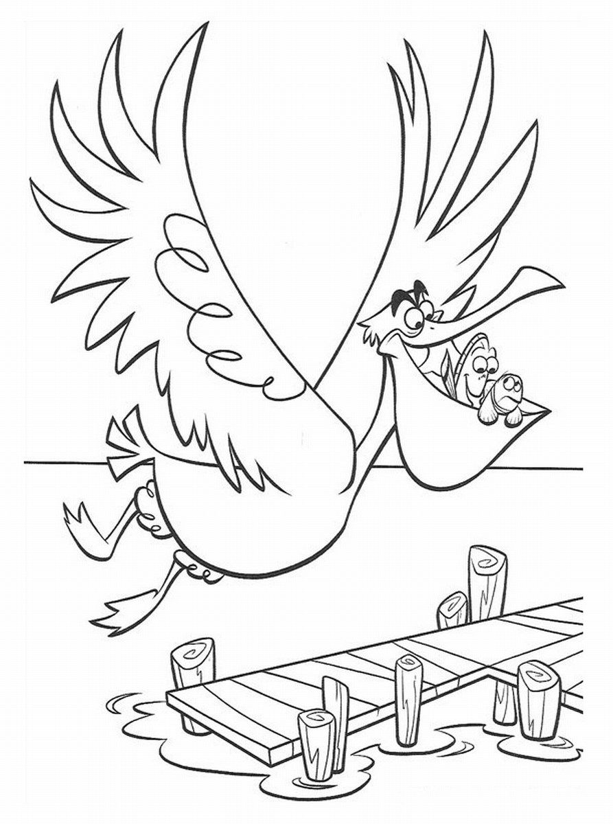 worksheet Finding Nemo Worksheet nemo coloring pages to print finding and pelican